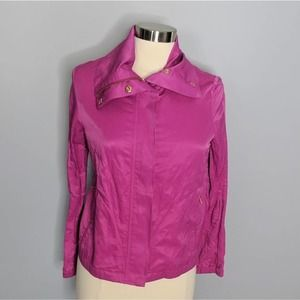 Talbots  Fuschia Lightweight  Moto Gold Jacket